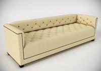 3d model of baker paris sofa