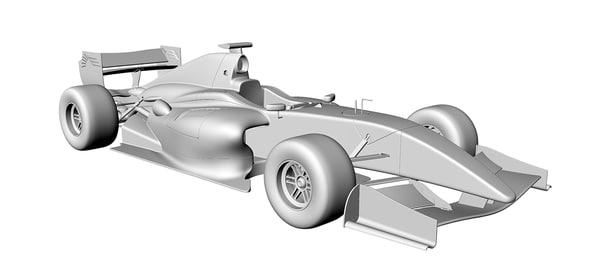 formula bolide renault 3d model