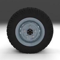 3d offroad wheel model