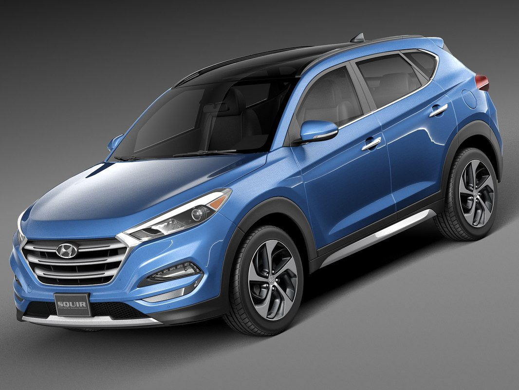 2016 hyundai tucson 3d model. Black Bedroom Furniture Sets. Home Design Ideas