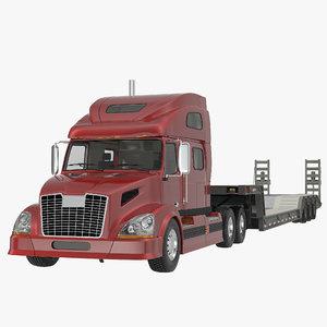 3d truck double drop lowboy model