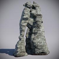 3d forest rock