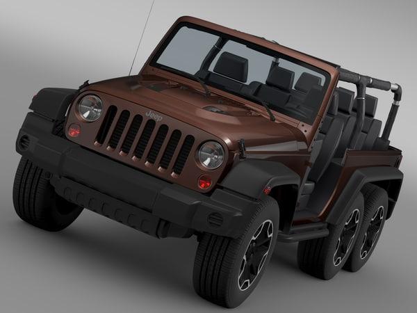 max jeep wrangler rubicon 6x6