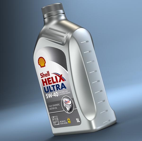 3d model shell helix bottle