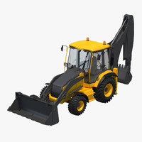 backhoe work 3d c4d