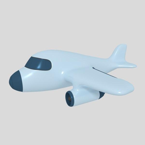 x cartoon airplane blender