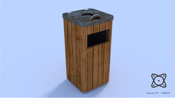 urban dustbin 3ds