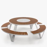 pantagruel outdoor table 3d max