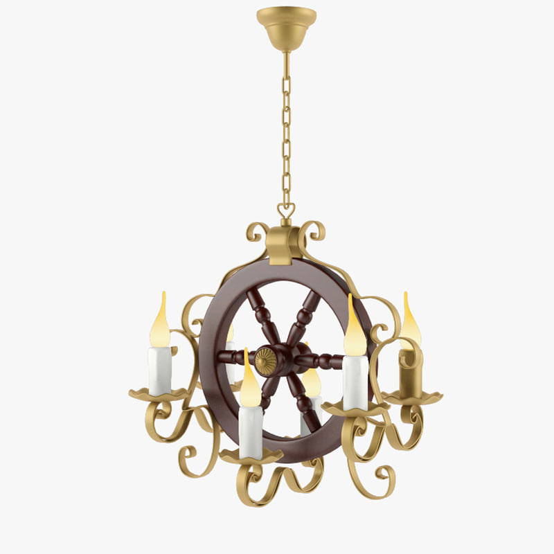 3d country chandelier model