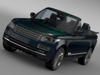 3ds max range rover autobiography black