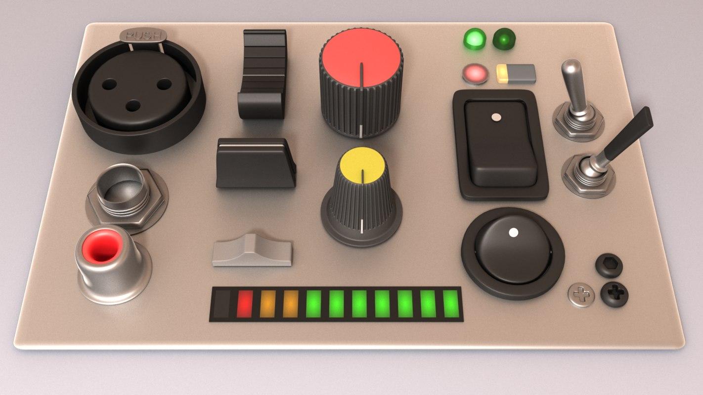 electronics knobs kitbash max