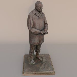 3d scanned statue hasselblad victor model