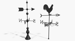 3d weather vanes model
