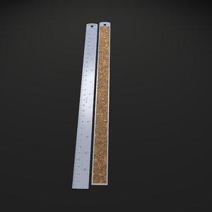 3d model stainless steel ruler