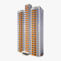 residential city building 3d ma
