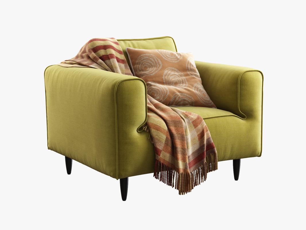boconcept arco armchair 3d model