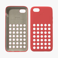 iphone 5c case red 3d model