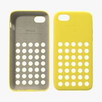 iPhone 5c Case Yellow 3D Model