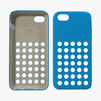 3d obj iphone 5c case blue
