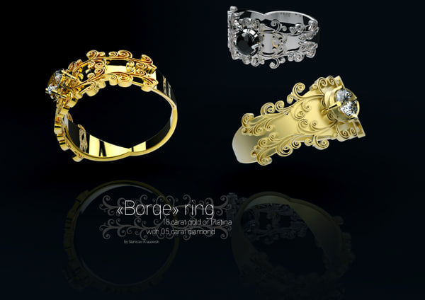 3d ring baroque
