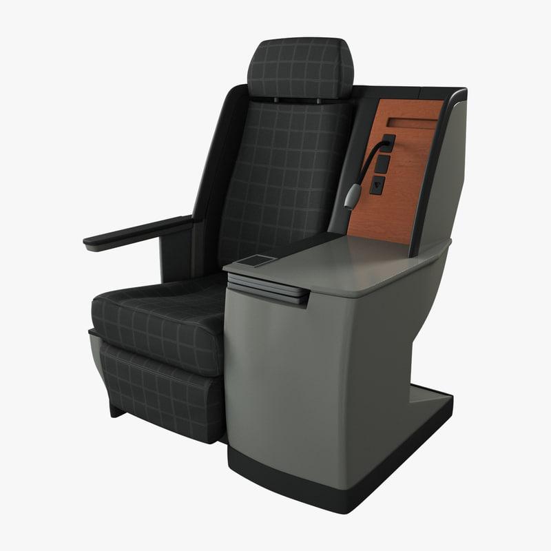 3d obj class airplane seat