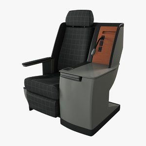 3d model class airplane seat rigged