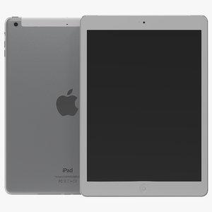 ipad air cellular silver 3d model