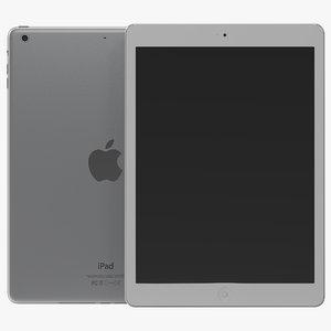 3d ipad air silver modeled