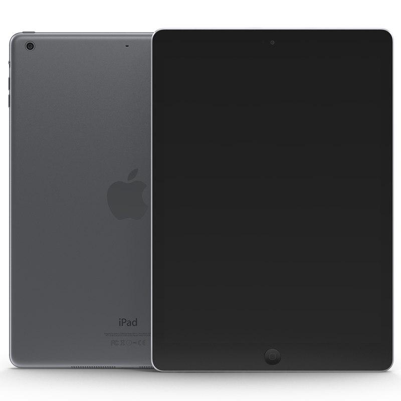 3d model ipad air space gray
