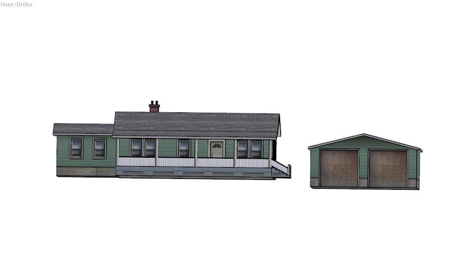 pack suburban house 3d 3ds