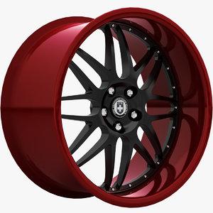 hre c20 wheels 3d model
