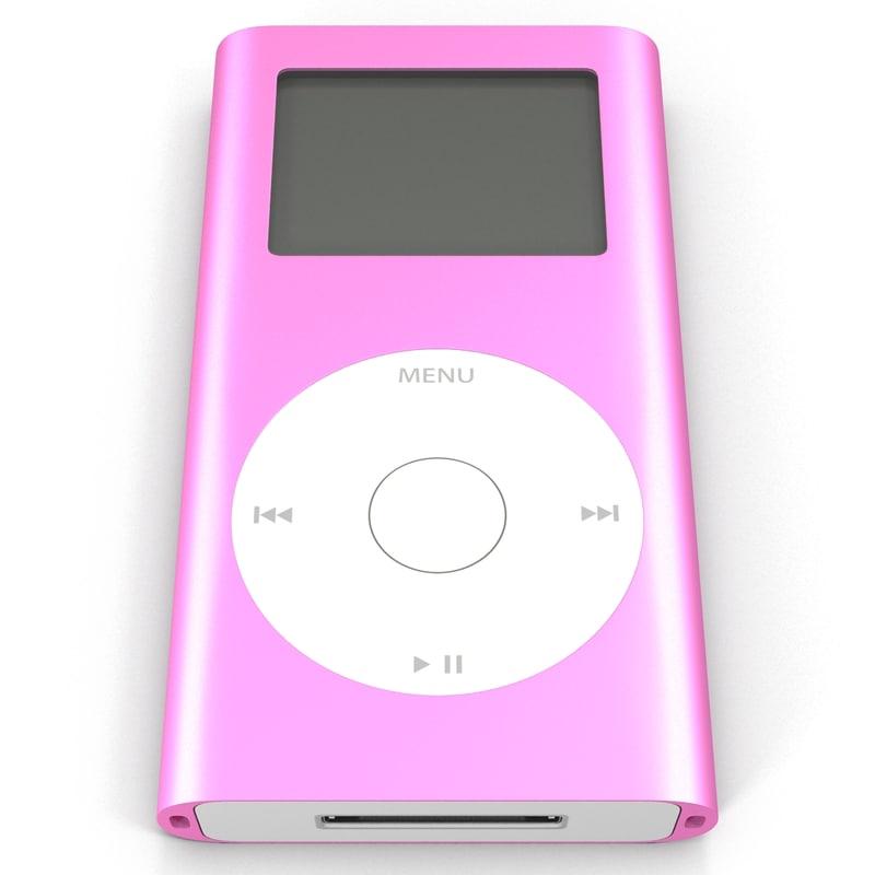 Ipod Mini Pink 3d Model