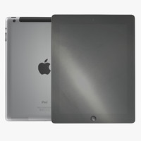 ipad retina cellular black 3d 3ds