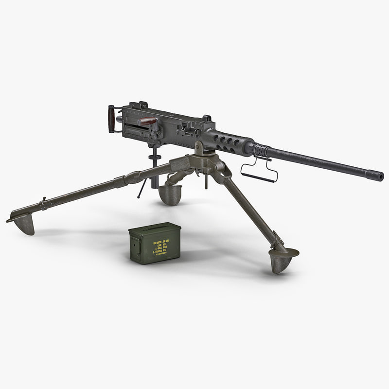 3d machine gun browning m2