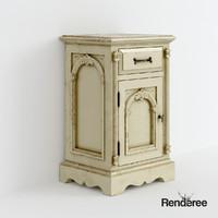 Victorian cabinet bedside cupboard battered 001