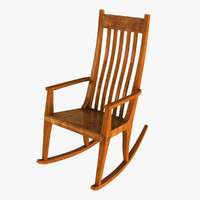 classic rocking chair 3d model