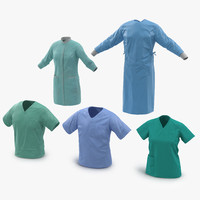 3d doctor clothing 3