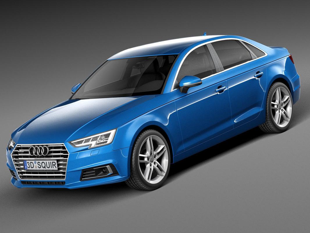 3d model 2016 sedan audi