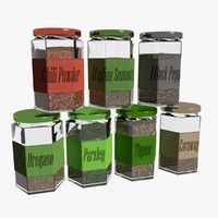 3d spice jar model