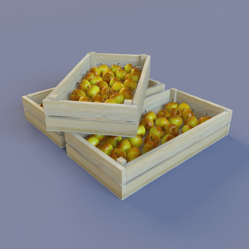 3d model ripe apples bright