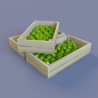 3d model juicy green apples