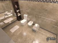 bathroom scene c4d