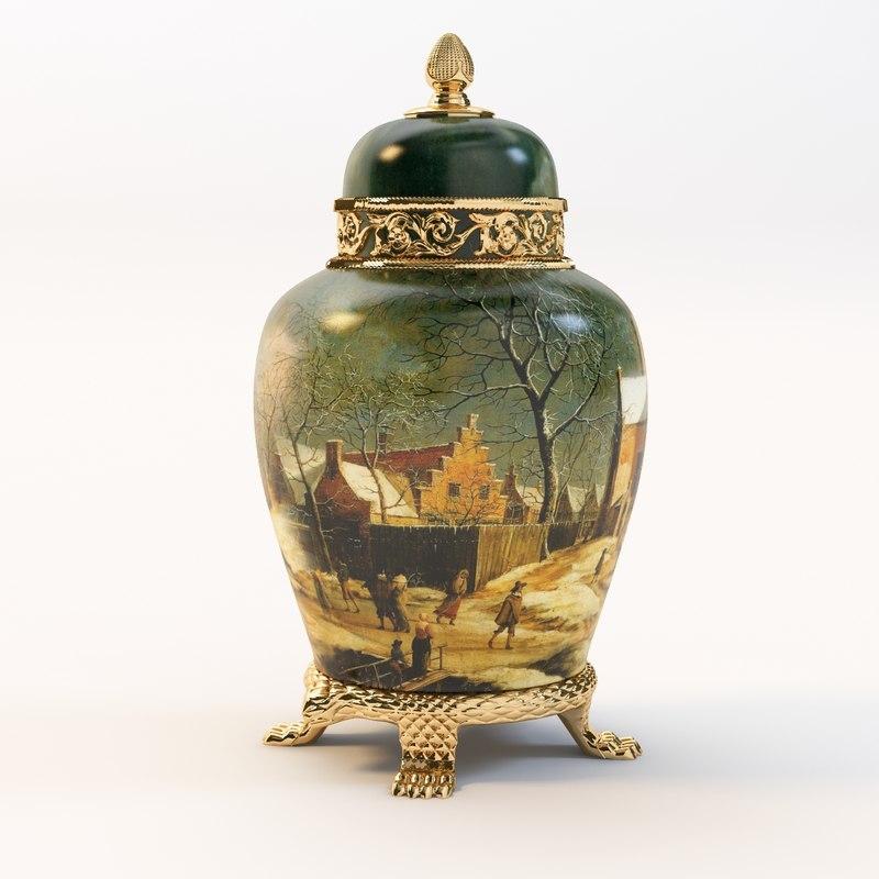3d antique vase art