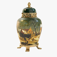 3d antique vase art