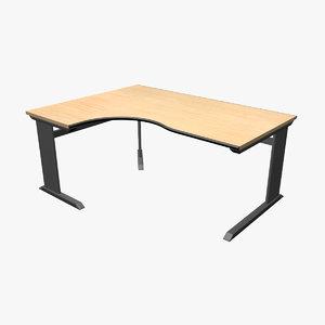 3d model modern office desk workstation