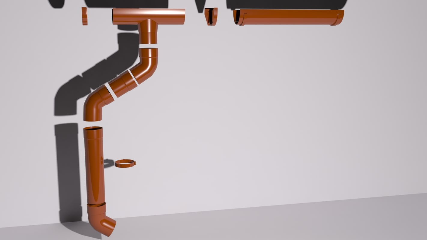 3d model drain pipes