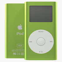iPod Mini Green 3D Model