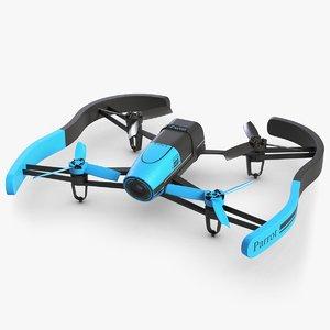 3ds parrot bebop drone blue