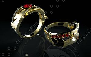 jewel ring 3d obj