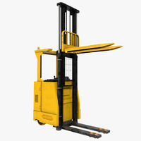 3d model rider stacker yellow rigged